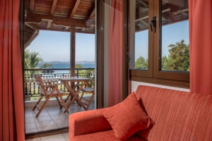 Two-bedroom suite with shared bathroom, Pyrgos hotel in Ouranoupoli of halkidiki nearby beach